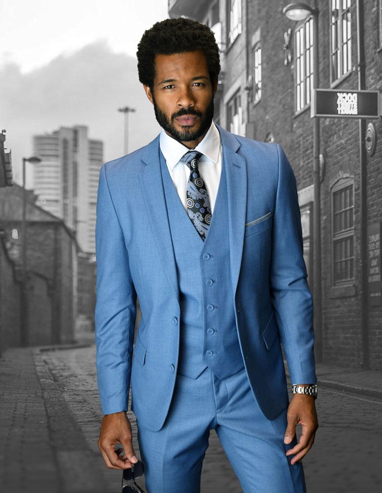 bd9d802a5025 Slim Fit Suits - Mens Grey Slim Fit Suit - StatementSuits.com